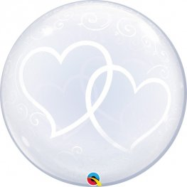 "24"" Entwined Hearts Deco Bubbles"