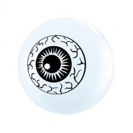 "5"" Eyeball Topprint Latex Balloons 100pk"