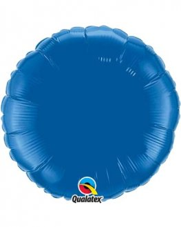 "18"" Dark Blue Round Foil Balloon"