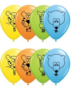 "11"" Jungle Animals Assorted Latex Balloons 25pk"