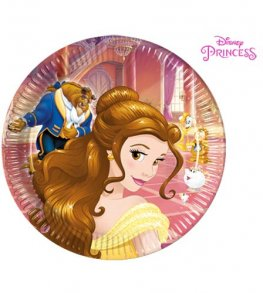 Beauty & The Beast Paper Plates 8pk