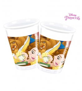 Beauty & The Beast Plastic Cups 8pk