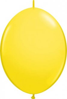 "6"" Yellow Quick Link Latex Balloons 50pk"