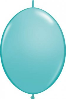 "6"" Caribbean Blue Quick Link Latex Balloons 50pk"