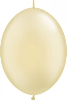 "6"" Pearl Ivory Quick Link Latex Balloons 50pk"