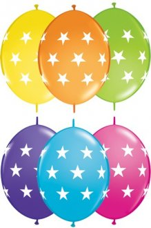 "12"" Big Stars Quick Link Latex Balloons 50pk"