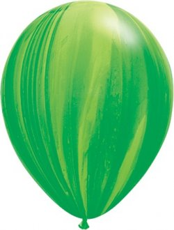 "11"" Green Rainbow Super Agate Latex Balloons 25pk"