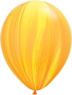"11"" Yellow Orange Rainbow Super Agate Balloon 25pk"