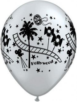 "11"" Hollywood Stars Latex Balloons 25pk"