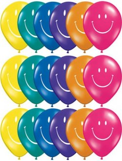 "5"" Smile Face Special Assorted 100pk"