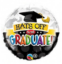 "18"" Hats Off To The Graduate Foil Balloons"