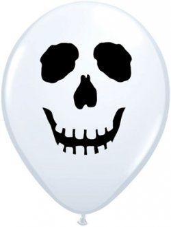 "5"" Skull Face Latex Balloons 100pk"