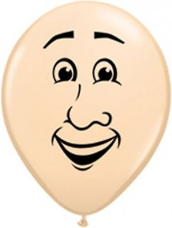 "5"" Mans Face Latex Balloons 100pk"