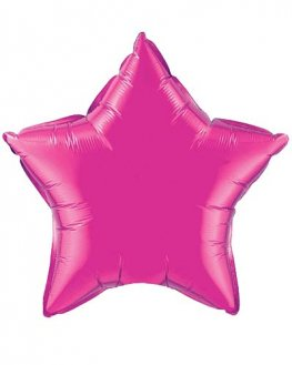 "9"" Magenta Star Foil Balloon"