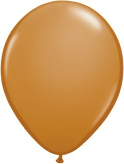"11"" Mocha Brown Latex Balloons 100pk"