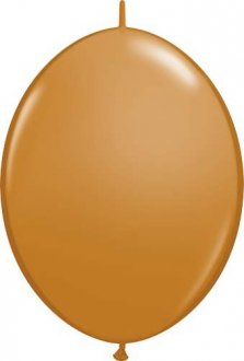 "6"" Mocha Brown Quick Link Latex Balloons 50pk"