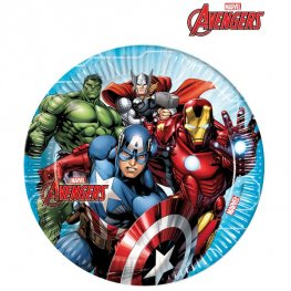 23cm Mighty Avengers Paper Plates 8pk