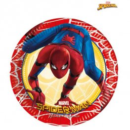 Spiderman Homecoming Paper Plates 8pk