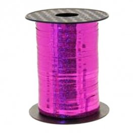Metallic Holographic Cerise Pink Curling Ribbon 250m