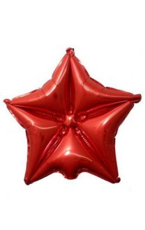 "20"" Ruby Red Quilted Star Balloon"