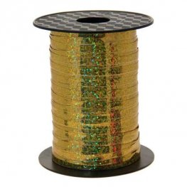 Metallic Holographic Gold Curling Ribbon 250m