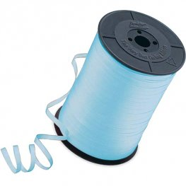 Light Blue Curling Ribbons 500m