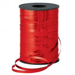 Metallic Red Curling Ribbons 250m