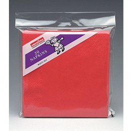 Red Napkins 6 Packs Of 20