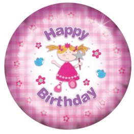 "18"" Happy Birthday Fairy Foil Balloons"