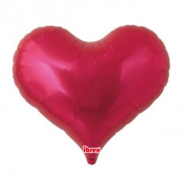 "14"" Metallic Red Jelly Hearts Foil Balloons"