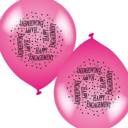 "10"" Engagement Latex Balloons 6 Packs Of 8"