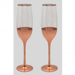Rose Gold Flutes Set Of 2