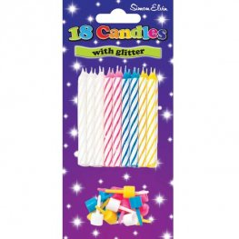 18 Assorted Spiral Candles x6