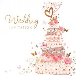 Cake Wedding Invitation Cards 6pk