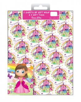 Princess Castle Wrap And Tags