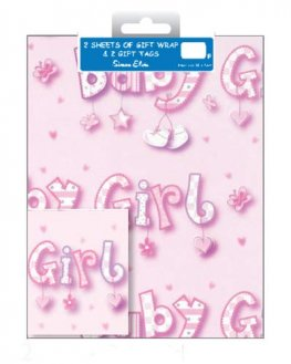 Baby Girl Wrap And Tags