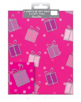 Pink Presents Wrap And Tags