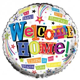 "18"" Welcome Home Foil Balloons"