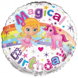 "18"" Magical Birthday Foil Balloons"