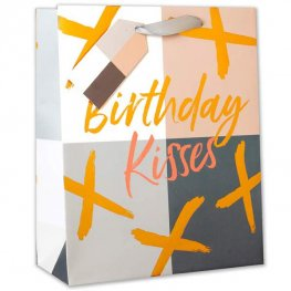 Birthday Kisses Large Gift Bag