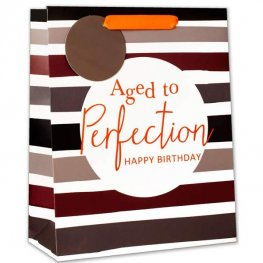 Aged To Perfection Happy Birthday Large Gift Bag