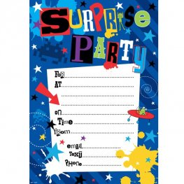 Suprise Party Invitations 20pk
