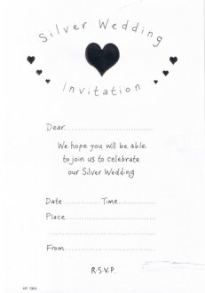 Silver Wedding Invitations x20