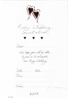 Ruby Wedding Invitations x20