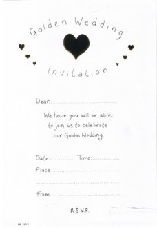 Golden Wedding Invitations x20