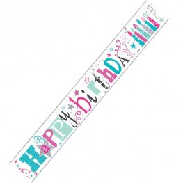 Happy Birthday Candles Banner