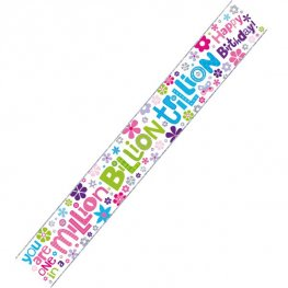 Millions Billions Happy Birthday Banner