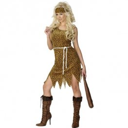 Velour Cavewoman Fancy Dress Costumes