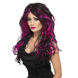 Black And Pink Gothic Bride Wigs