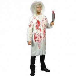 Doctors Coat With Blood Fancy Dress Costumes